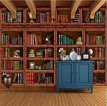 Fototapete 3D Retro Bibliothek Vlies Tapete
