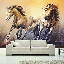 Fototapete 3D-Retro-Pferde ölgemälde Wand Tapete