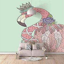 Fototapete 3D Rosa Flamingo Benutzerdefinierte 3D