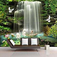 Fototapete 3D Schöne Wasserfall Wandtapete