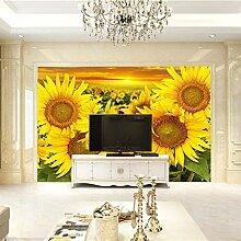 Fototapete 3D Sonnenblume Design Tapete
