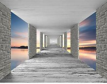 Fototapete 3D Sonnenuntergang Vlies Wand Tapete