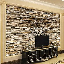 Fototapete, 3D-Steinwand, für Wohnzimmer, Sofa,