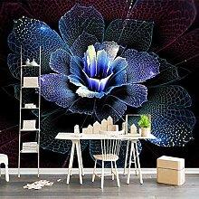 Fototapete 3D Stereo Abstract Art Blau Wand Tapete
