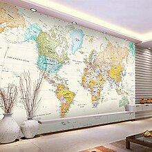 Fototapete 3D Stereo Weltkarte Wand Tapete