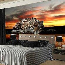Fototapete 3D Stereoskopische Tier Leopard