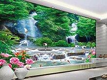 Fototapete 3d stereoskopische Wasserfall