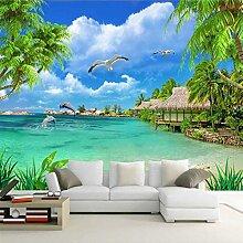 Fototapete 3D Strand Kokospalmen landschaft mit