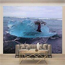Fototapete 3D Strandfrau Vlies Fototapete Wandbild