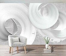 Fototapete 3D Tapete Abstrakter Weißer
