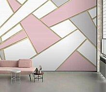 Fototapete 3D Tapete Abstraktes Geometrisches Gold