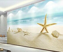 Fototapete 3D Tapete Blaues Meer Strand Seestern