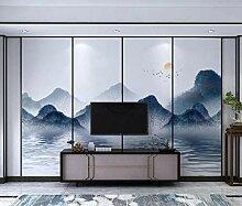 Fototapete 3D Tapete Chinesische Tintenlandschaft