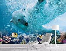 Fototapete 3D Tapete Eisbär Unterwasserwelt