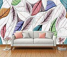 Fototapete 3D Tapete Farbblatt Textur Tapeten