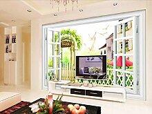 Fototapete 3D Tapete Fenster Fenster Landschaft Im