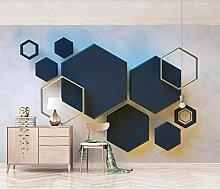 Fototapete 3D Tapete Geometrisches Sechseck-Mosaik