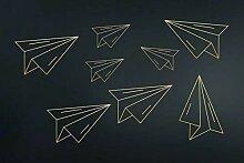Fototapete 3D Tapete Gold Geprägte Linie Papier