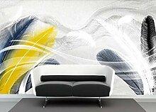 Fototapete 3D Tapete Goldene Feder Textur Fantasie