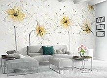 Fototapete 3D Tapete Goldene Lilienblume Tapeten