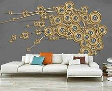 Fototapete 3D Tapete Goldene Reliefbaumlinien
