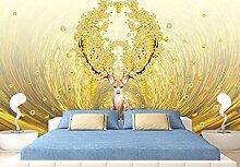 Fototapete 3D Tapete Goldener Rich Tree Money Tree