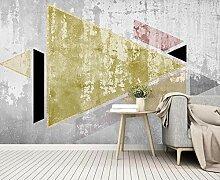 Fototapete 3D Tapete Graue Zementwand Mit Goldenen