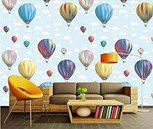 Fototapete 3D Tapete Heißluftballon Mit Blauem
