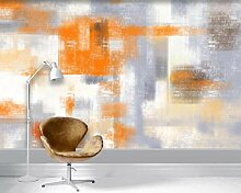 Fototapete 3D Tapete Orange Farbblock Nordic Des