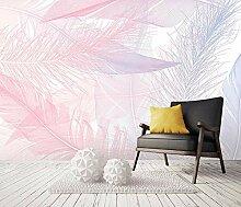 Fototapete 3D Tapete Pink Line Federn Einfach Und