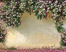 Fototapete 3D Tapete Retro Europäische Rose Rose