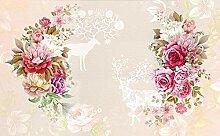 Fototapete 3D Tapete Rosa Garten Schön Und Frisch