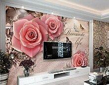 Fototapete 3D Tapete Rosen-Juwelwandhintergrund