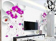 Fototapete 3D Tapete Schmetterlings-Orchidee