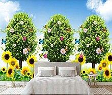 Fototapete 3D Tapete Sonnenblume Der Grünen