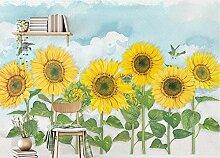 Fototapete 3D Tapete Sonnenblume Himmel Tapeten