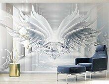 Fototapete 3D Tapete Stereo-Raum-Diamant wings
