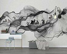 Fototapete 3D Tapete Tintenrauch, Pferd, Chinese