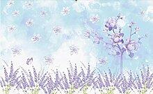 Fototapete 3D Tapete Wandbild Lavendel Idyllisch
