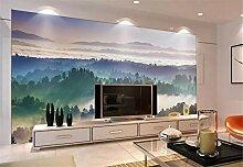 Fototapete 3D Tapete Wandbild XXL Bewölkte Berge