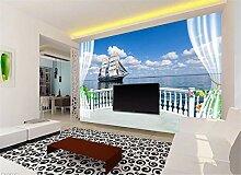Fototapete 3D Tapete Wandbilder Balkon Mit