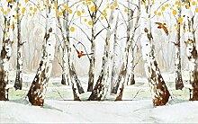Fototapete 3D Tapete Wandbilder Waldmalerei Der