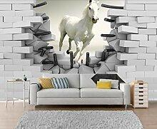 Fototapete 3D Tapete Weltraum - Pferd Landschaft