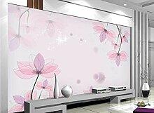 Fototapete 3D Tapeten Einfache Rosa Blume Tapete