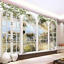 Fototapete 3D Tapeten Europäer Minimalist Fenster