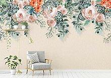 Fototapete 3D Tapeten Handbemalte Rosenblütenrebe