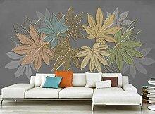 Fototapete 3D Tapeten Pflanzenblätter Mit