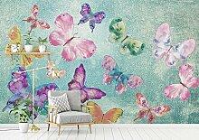 Fototapete 3D Tapeten Retro Farbe Schmetterling