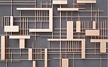 Fototapete 3D Tapeten Retro Kreative Geometrische