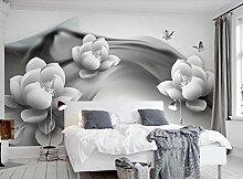 Fototapete 3D Tapeten Tinte Lotus Schmetterling